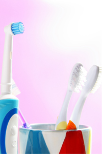 Electric and Regular Toothbrush